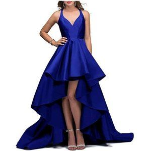Tianzhihe Halter High Low Long Prom Formal Dress
